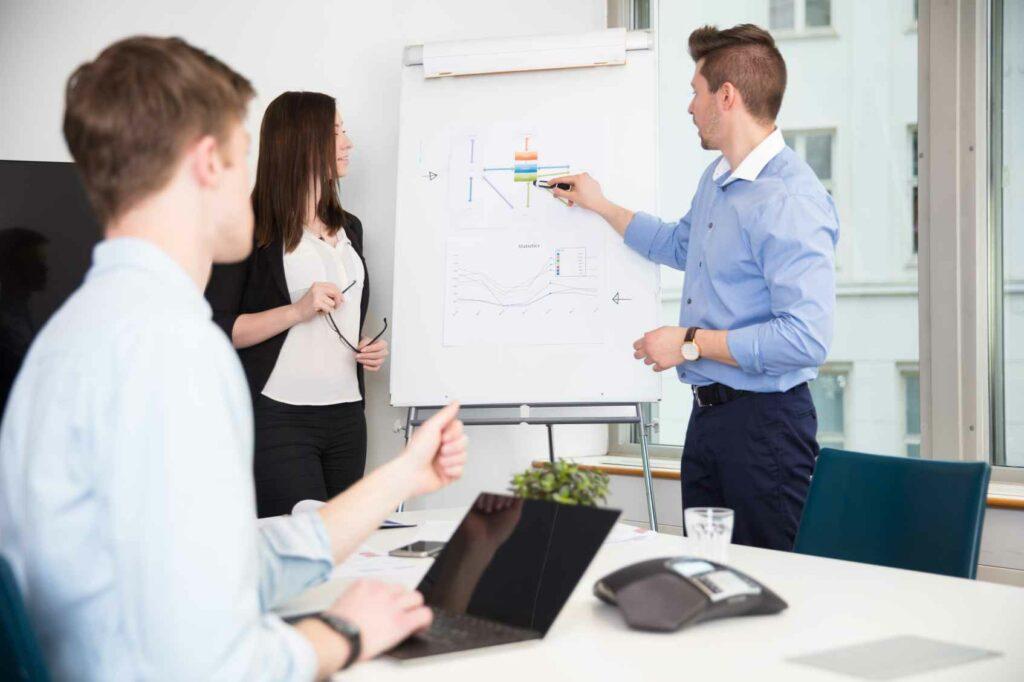 prezentacja biznesowa w firmie
